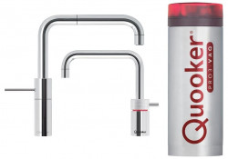 Quooker Pro3-VAQ TWINTAPS Nordic Square Chroom PRO3NSTTCHR
