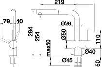Blanco Keukenkraan LINUS-S keramiekzwart met uittrekbare uitloop 516708