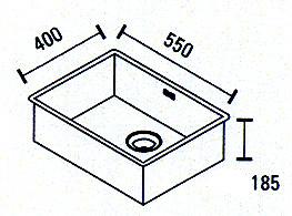 Blusani Cubic rvs spoelbak 55 onderbouw BC0055U