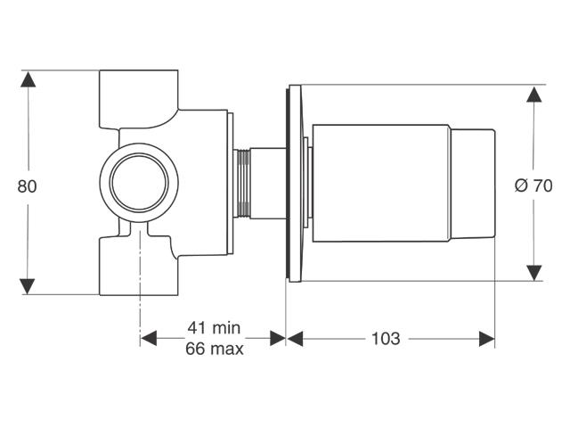 ideal standard moments inbouwdeel afbouwdeel 3 weg. Black Bedroom Furniture Sets. Home Design Ideas