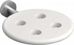 Clou Slim tandenborstelhouder t.b.v. 4 stuks rvs geborsteld en wit siliconen PhotoFreestanding