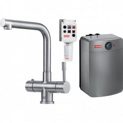 Franke Mondial 3 in 1 kokendwater keukenkraan combi M-box volledig RVS met 10 liter boiler 1190480685