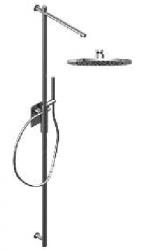 Zazzeri thermostatische inbouwdoucheset met hoofddouche 220 mm en handdouche mat zwart 1208849702