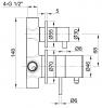 Rubio Inox inbouw thermostaatkraan met 2-weg omsteller volledig RVS 1208755142