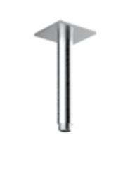 Rain plafond douche arm met vierkante rozet lengte 10 cm geborsteld massief 316 RVS 1208946697