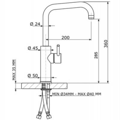 Keukenkraan D1530