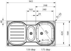 Franke Spoelbak Compact CPX P 251 vlakinbouw 1270069991